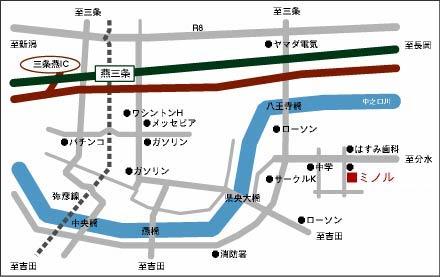 ミノルプレスまでの地図